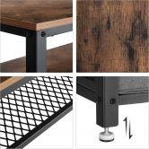 Fernsehtisch mit 3 herausnehmbaren Schubladen in Industrie-Design