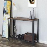 Konsolentisch 101,5 x 35 cm in Industrie-Design, hellbraun