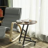 Mobiler Kaffeetisch Ø 55 cm in Industrie-Design