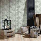 Vliestapete Premium Wall Tapete in Vintage Holz Optik grau, schwarz, weiß