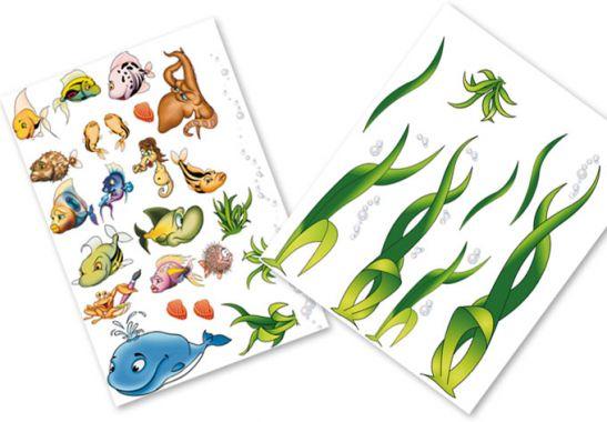 Wandtattoo unterwasserwelt aufkleber f r kinderzimmer - Wandtattoo unterwasserwelt kinderzimmer ...