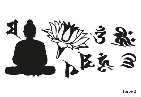 wandtattoo mit einer lebensweisheit von buddha alles was. Black Bedroom Furniture Sets. Home Design Ideas