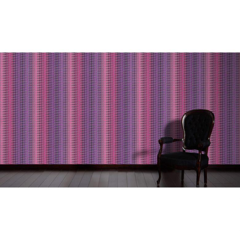 Livingwalls Vliestapete Mac Stopa geometrische Tapete grau rot lila 327273