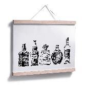 Poster Five bottles of fun