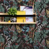 Architects Paper Vliestapete Floral Impression Blumentapete floral schwarz, grün, gelb, rot, lila