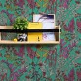 Architects Paper Vliestapete Floral Impression Blumentapete floral grün, lila, grau, rot, gelb