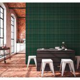 Livingwalls Metropolitan Stories 2 Ava - New York Papier peint géométrique, Vert, Métallique