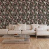 A.S. Création Vliestapete Character Tapete mit Rosen floral grau, grün, rosa