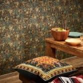 Livingwalls Papier peint intissé New Walls Finca Home motif carrelage bleu, vert, marron