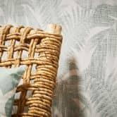 Livingwalls Vliestapete New Walls Tapete Cosy & Relax mit Palmenblättern creme, beige, grün