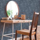 Livingwalls Vliestapete New Walls Tapete Cosy & Relax mit Palmenblättern blau