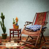 Livingwalls Papier peint intissé New Walls Cosy & Relax uni bleu, vert