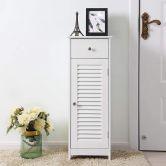 Badezimmerstandregal mit 1 Tür und 1 Schublade im Landhaustil