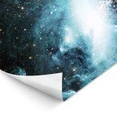 LED-Wandbild - In einer fernen Galaxie