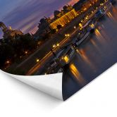 LED-Wandbild - Dresden im Nachtleben