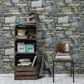 Vliestapete Premium Wall Tapete in Naturstein Optik blau, creme, grau