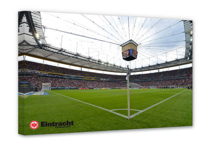 Leinwand Leinwandbild Eintracht Frankfurt Arena bunt
