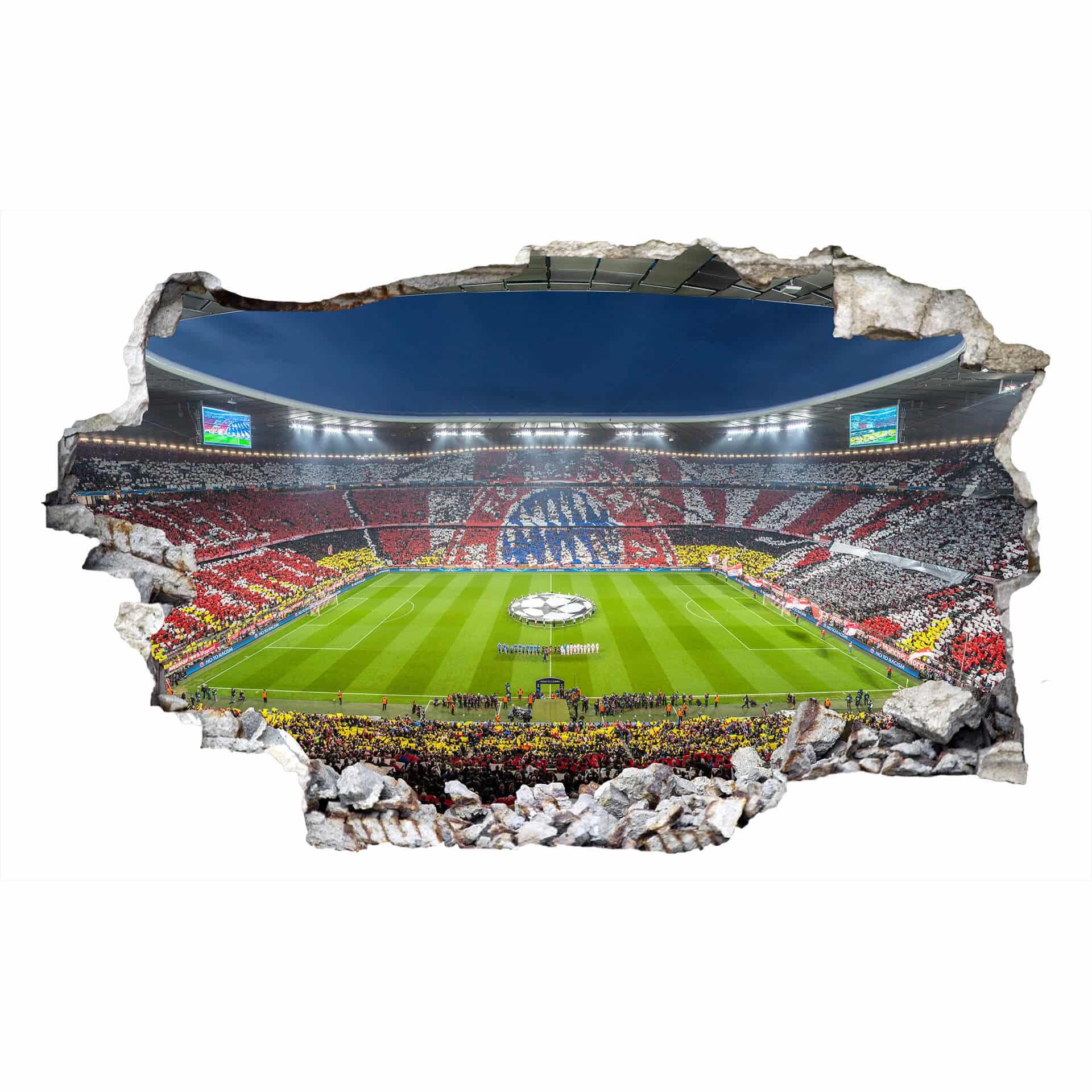 3d wandtattoo fcb stadion immer weiter fußball fc bayern