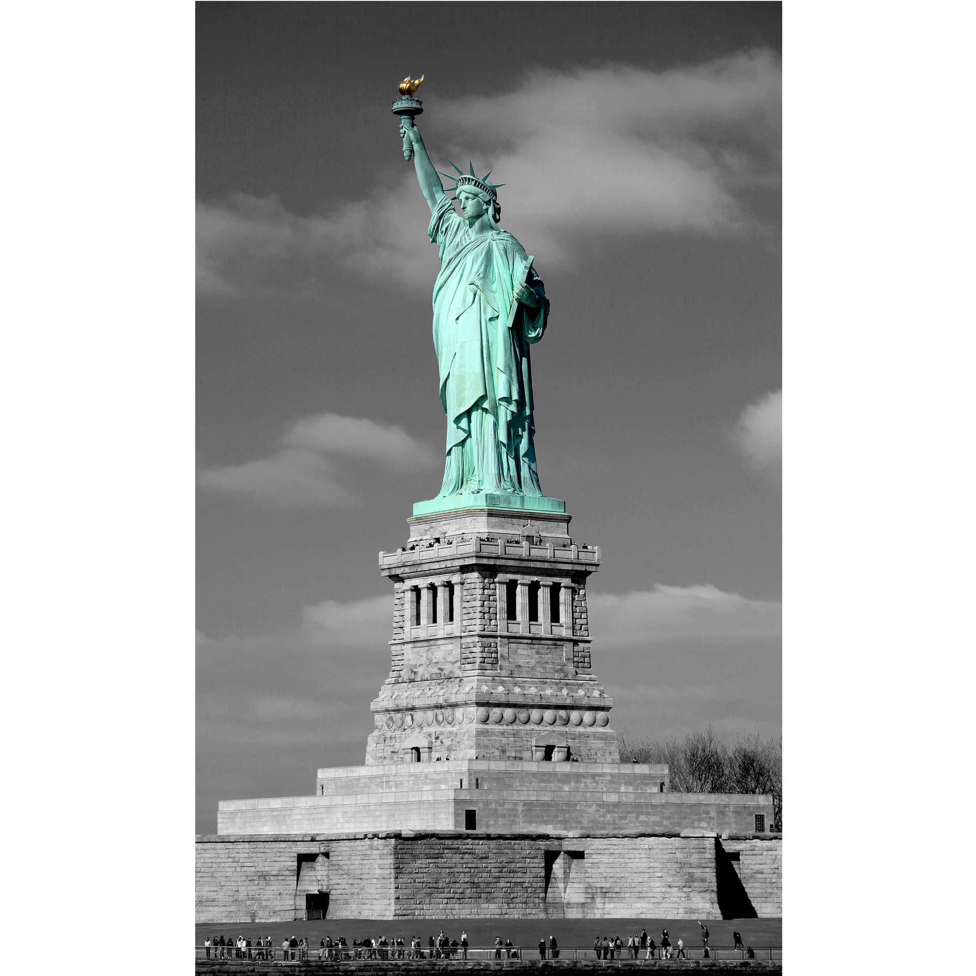 fototapete freiheitsstatue von k l wall art die miss liberty f r ihre lieblingswand wall. Black Bedroom Furniture Sets. Home Design Ideas