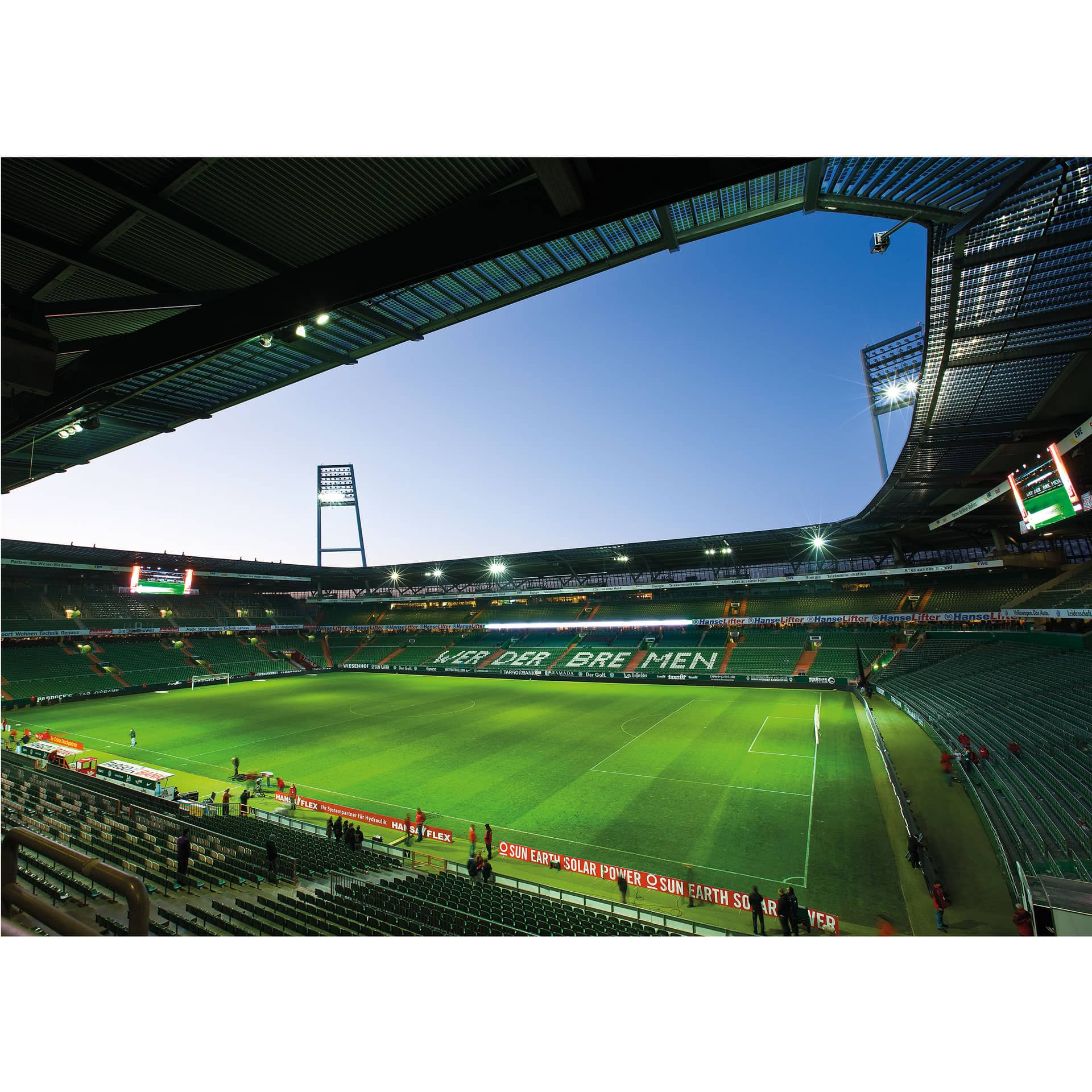 fototapete werder bremen weserstadion innen von k l wall art exklusiv f r echte werder fans. Black Bedroom Furniture Sets. Home Design Ideas