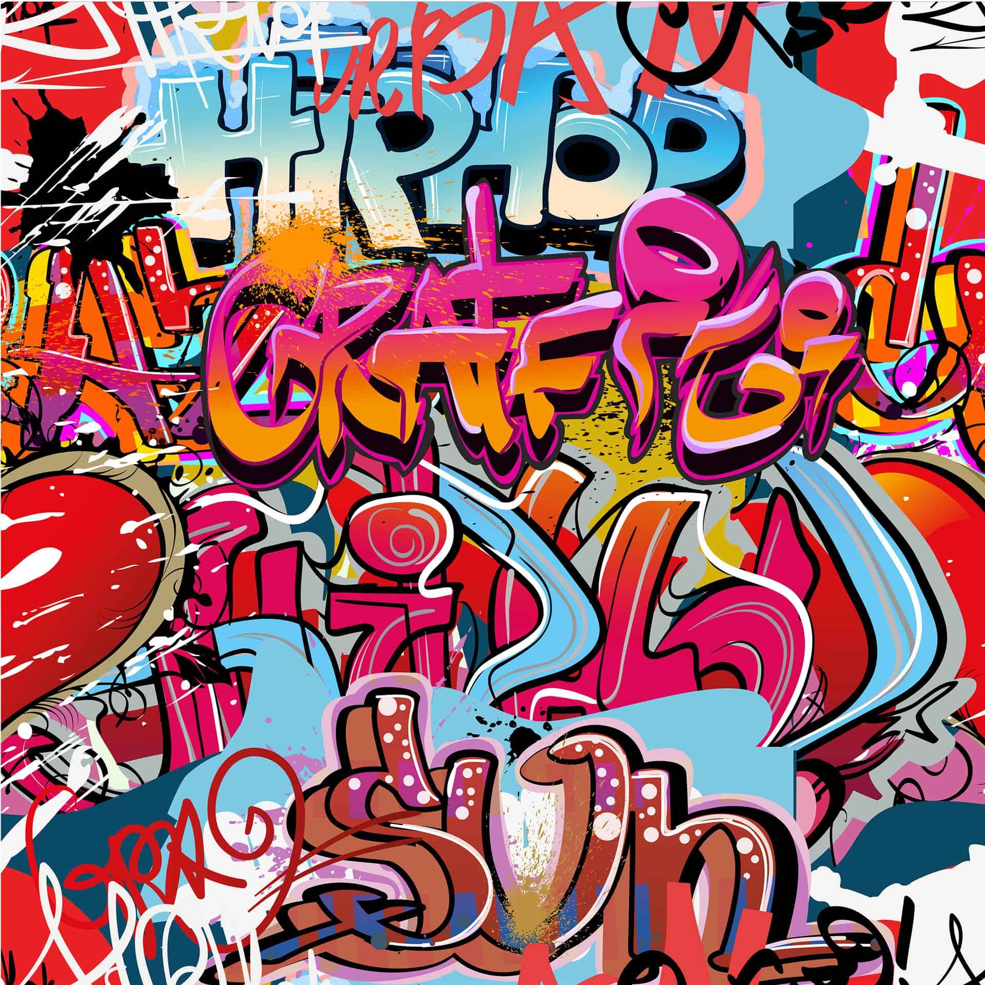 Fototapete graffiti hip hop von k l wall art wall - Wandsticker graffiti ...