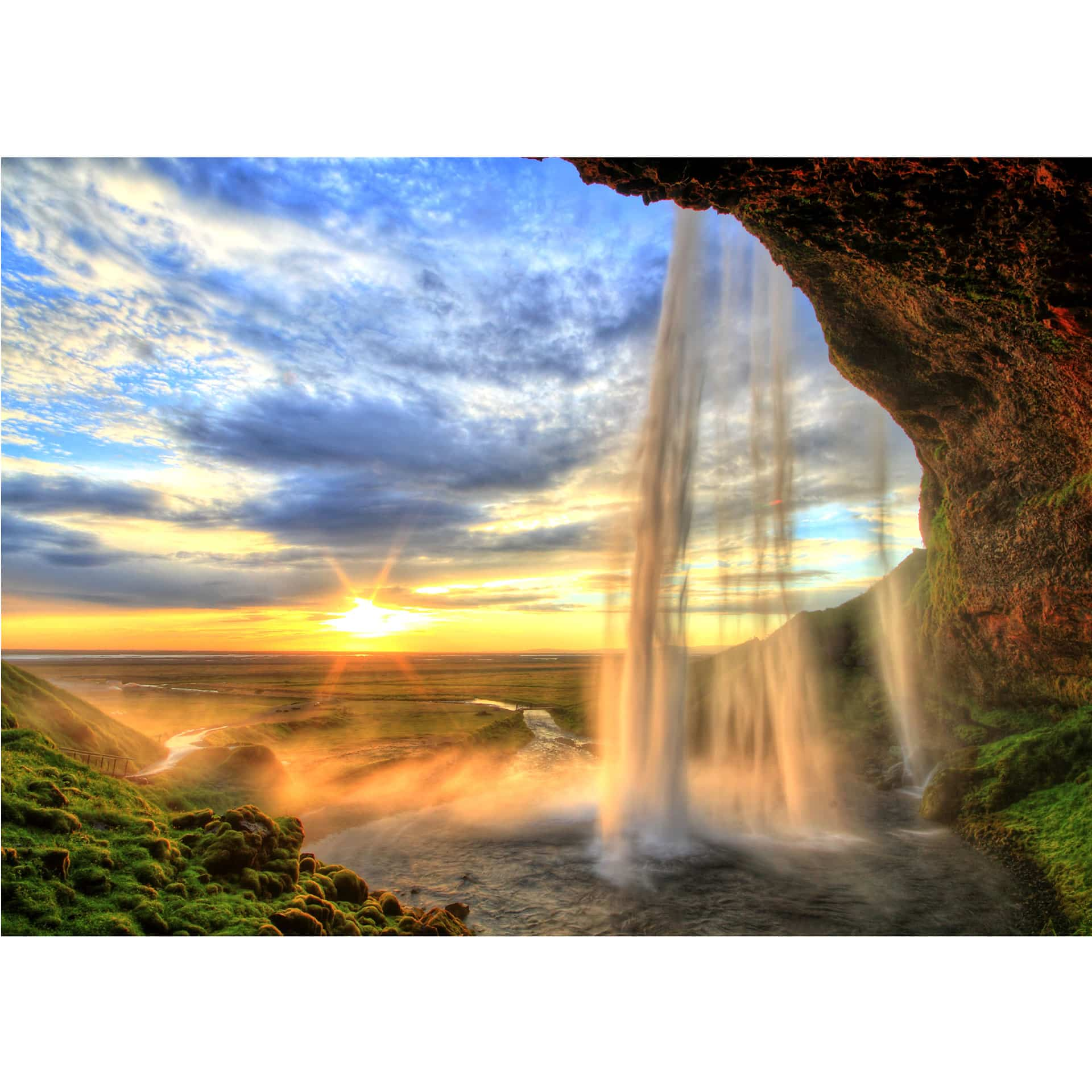 fototapete seljalandsfoss wasserfall von k l wall art. Black Bedroom Furniture Sets. Home Design Ideas