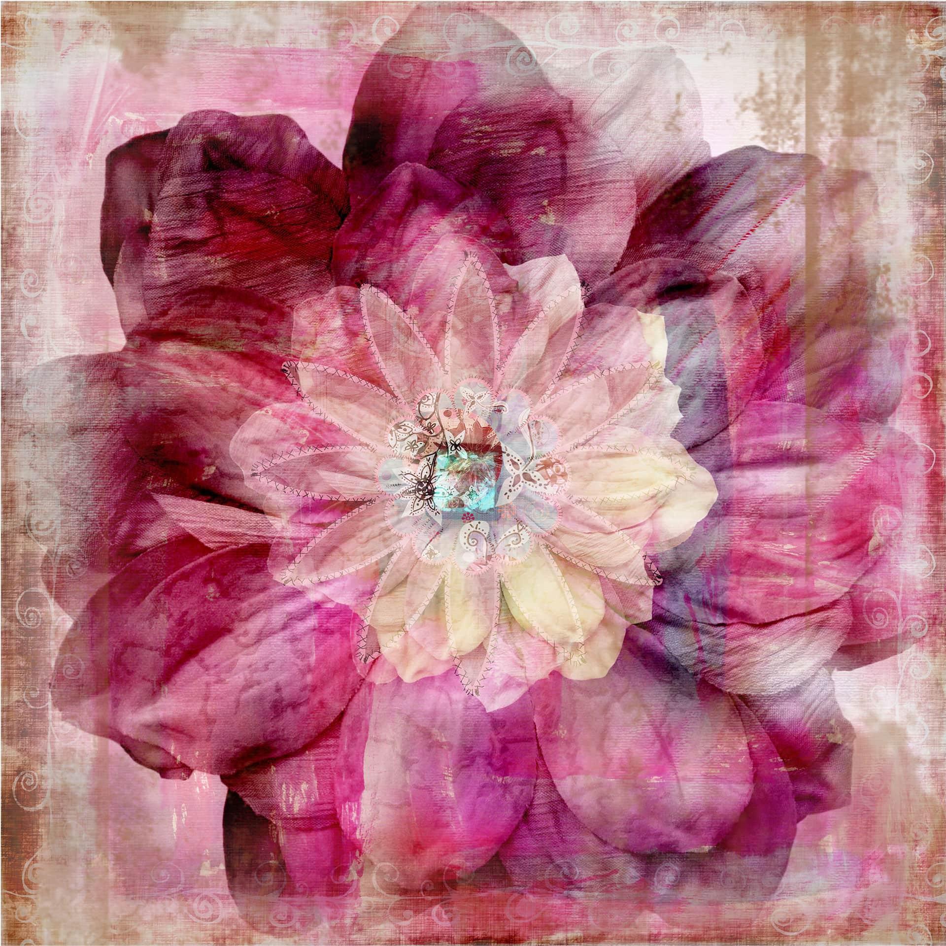 Fotomurale peonia rosa wall for Carta da parati bohemian