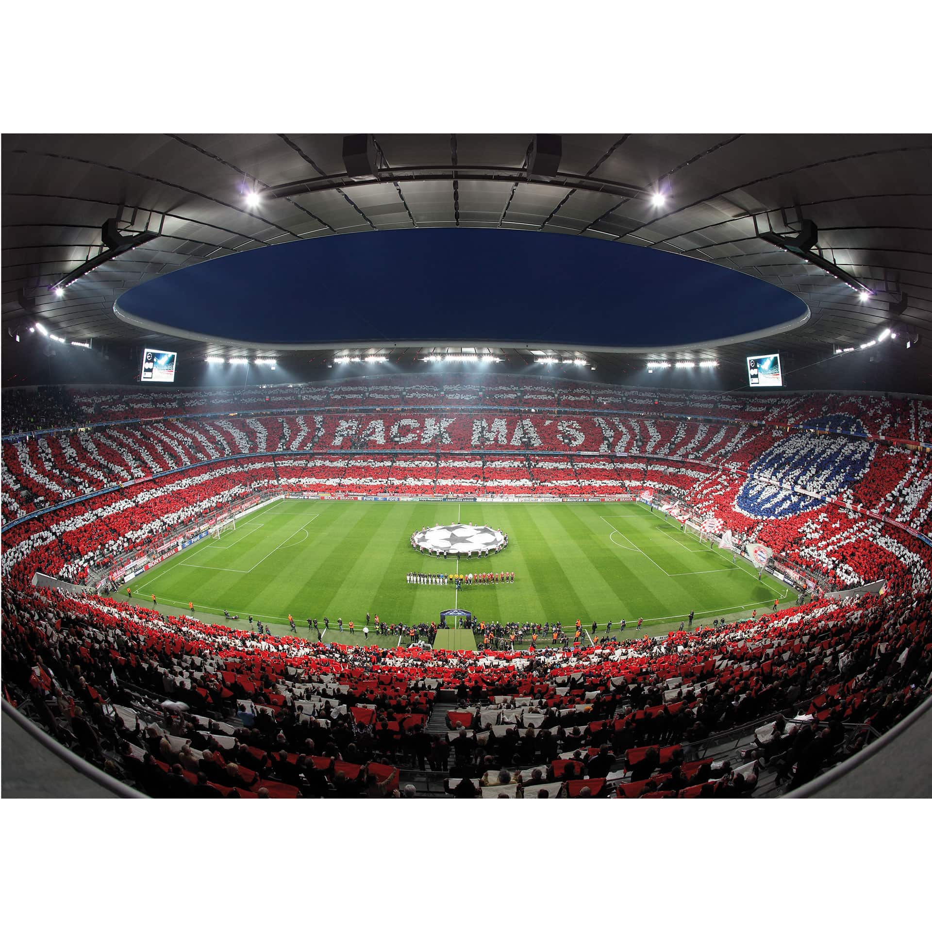 bayern munich soccer stadium photo wall. Black Bedroom Furniture Sets. Home Design Ideas