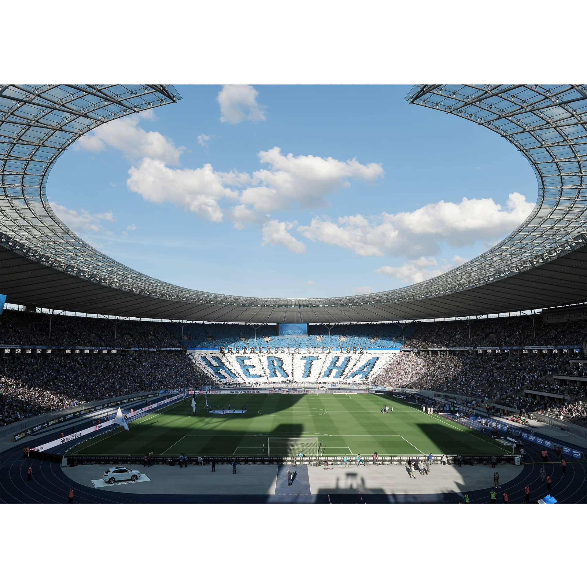 fototapete hertha bsc stadion am tag wall. Black Bedroom Furniture Sets. Home Design Ideas