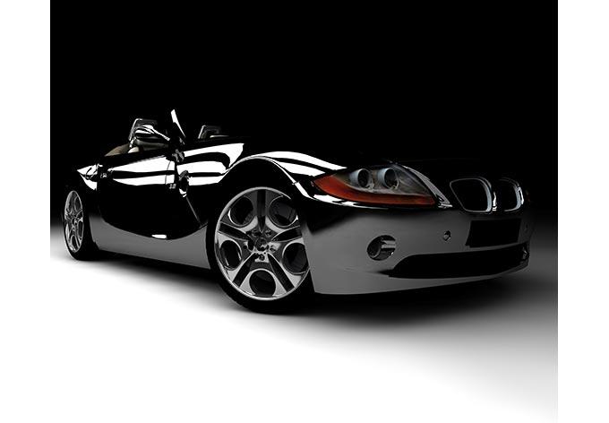 fototapete black car stylisches auto im silber look. Black Bedroom Furniture Sets. Home Design Ideas