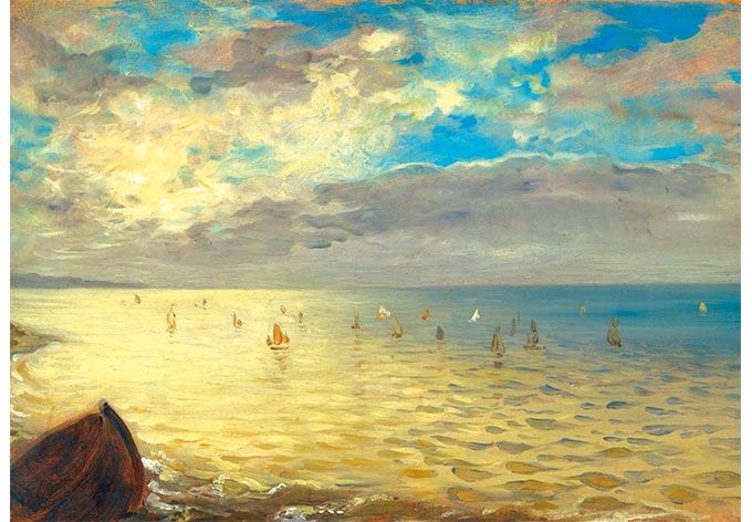 ... Eugène Delacroix Das Meer auf Glas als Dekoration  wall-art.de