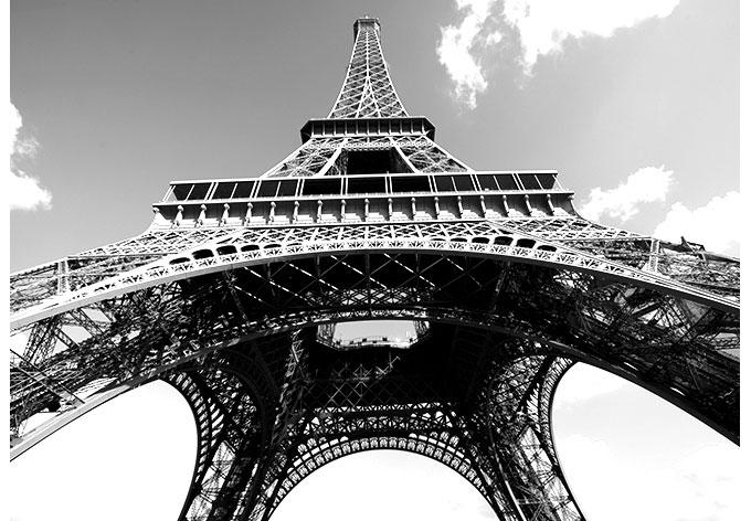 Fototapeten In Schwarz Wei? : Fototapete Eiffelturm Perspektive schwarz/wei? – Dekoidee f?r Paris