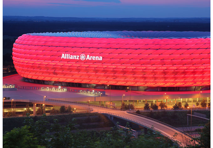 fototapete bayern m nchen allianz arena wall. Black Bedroom Furniture Sets. Home Design Ideas