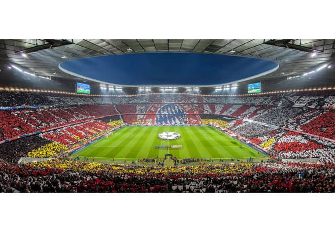 fototapete vliestapete bayern m nchen stadion choreo immer. Black Bedroom Furniture Sets. Home Design Ideas
