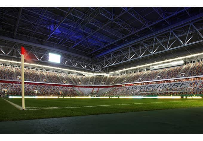 fototapete fortuna d sseldorf stadion eckfahne von k l. Black Bedroom Furniture Sets. Home Design Ideas
