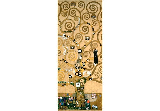 kunstdruck fototapete gustav klimt der lebensbaum als dekoration wall. Black Bedroom Furniture Sets. Home Design Ideas