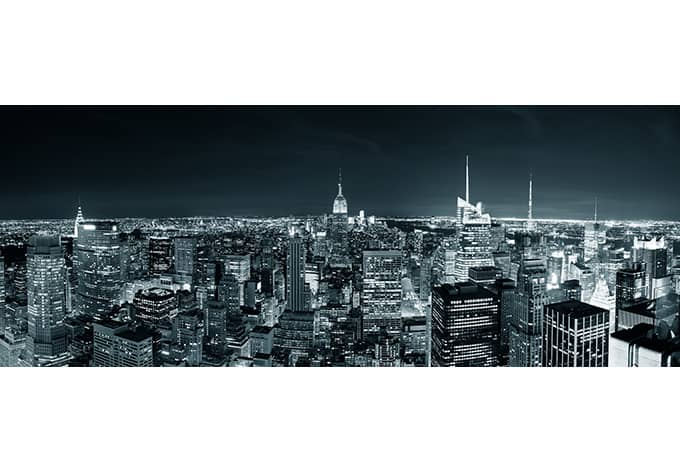 fototapete new york at night 2 panorama von k l wall art. Black Bedroom Furniture Sets. Home Design Ideas