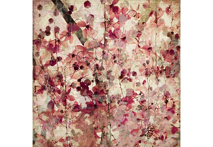 fotobehang vintage bloemen wall. Black Bedroom Furniture Sets. Home Design Ideas