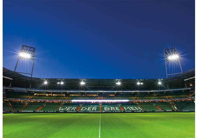 fototapete werder bremen weserstadion trib ne von k l wall art wall. Black Bedroom Furniture Sets. Home Design Ideas