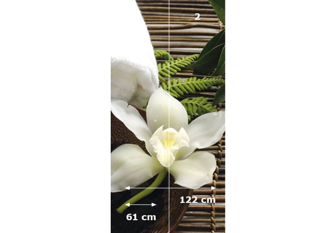 Selbstklebende Tapete Wellness : Orchid Wall Decal