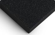 k chenr ckwand acrylglas perleffekt schwarz wall. Black Bedroom Furniture Sets. Home Design Ideas