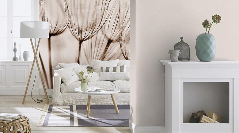 fototapeten mit pflanzen motiven wall. Black Bedroom Furniture Sets. Home Design Ideas