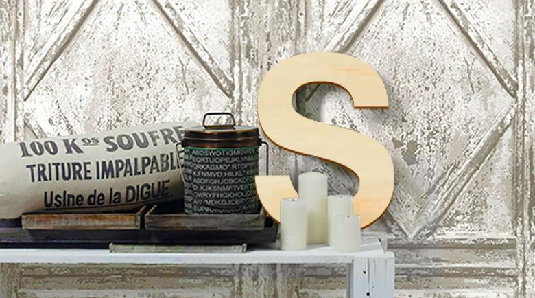 holzbuchstaben und dekoration aus holz wall. Black Bedroom Furniture Sets. Home Design Ideas