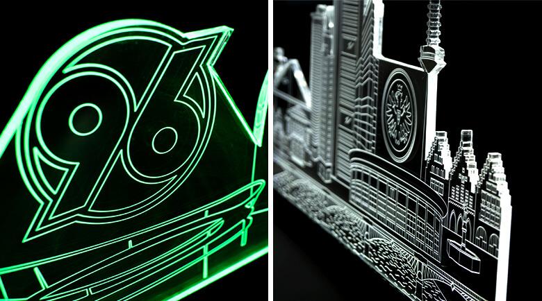 led beleuchete skyline als dekoration wandtattoo wall. Black Bedroom Furniture Sets. Home Design Ideas