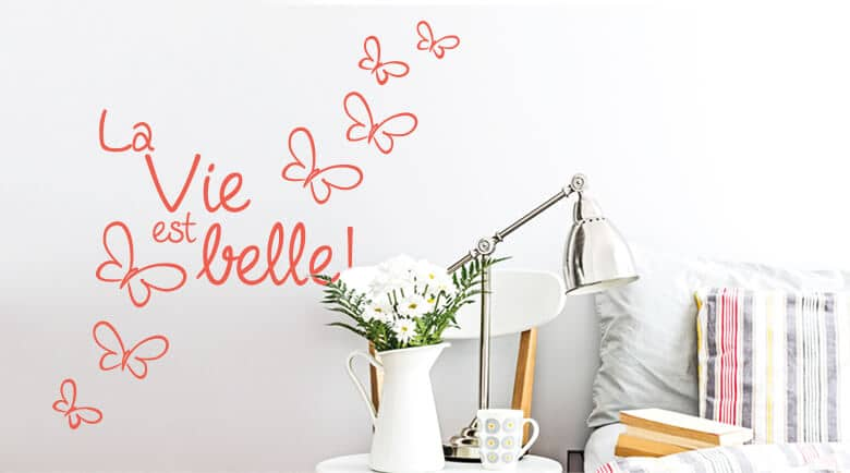 franz sische wandspr che zum dekorieren wandtattoo wall art wandtattoos bestellen deko. Black Bedroom Furniture Sets. Home Design Ideas