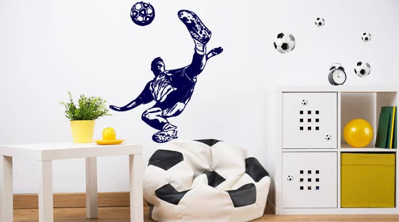 fussball wandtattoos fu ball wandtattoo wall art wandtattoos bestellen deko idee und. Black Bedroom Furniture Sets. Home Design Ideas