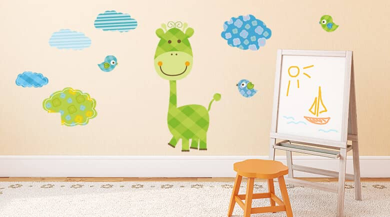 wandtattoos f rs kinderzimmer wandtattoo deko f r kinder wall. Black Bedroom Furniture Sets. Home Design Ideas