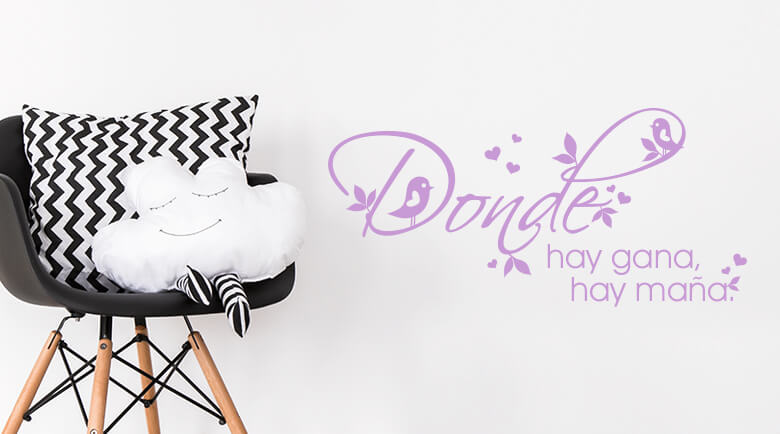 spanische wandtattoos spr che auf spanisch wandtattoo wall art wandtattoos bestellen. Black Bedroom Furniture Sets. Home Design Ideas
