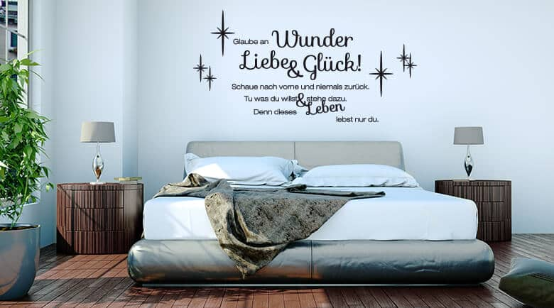 wandtattoo wandspr che wandzitate online kaufen wall. Black Bedroom Furniture Sets. Home Design Ideas