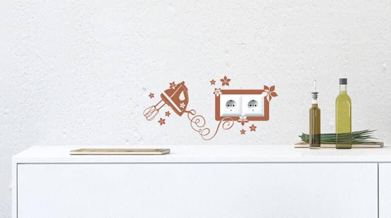 Dekoidee für Steckdosen - Wandtattoo | Wall-Art Wandtattoos ...